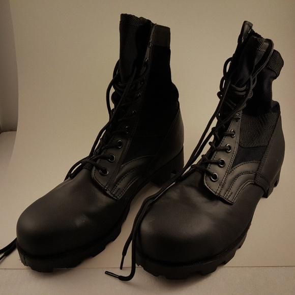 31a92deb993 Black Military Steel Toe Tactical 8